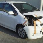 買取した事故車ヴィッツの画像