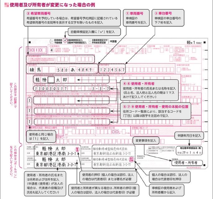 軽第1号様式の記入例の参考画像