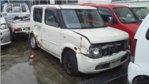 西条市で事故車買取したキューブの画像