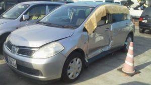 松山市で事故車買取したティーダの画像