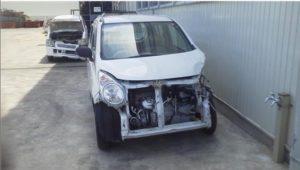 西条市で事故車買取したアルトのフロント画像