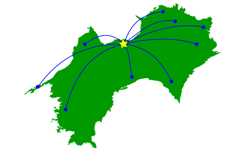 廃車買取りは四国全域に対応していることを表す画像